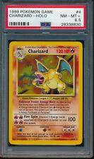 PSA 8.5 CHARIZARD 1999 Pokemon Base Unlimited #4/102 Holo Non-Shadowless NM-MT+
