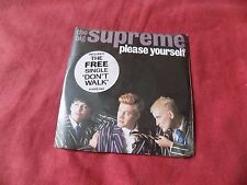 "THE BIG SUPREME Please yourself + Don't walk RARE X2 7"" POP NEW WAVE **SEALED**"