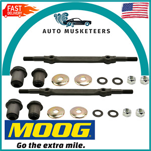 For Chevrolet Buick Pair Set of 2 Front Upper Control Arms Shaft Kit Moog K6146