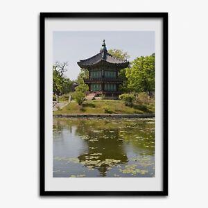 Tulup Foto auf MDF Wanddekoration Kunst Wohnzimmer 50x70cm Japanischer Park
