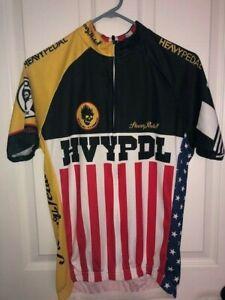 HVY PDL Heavy Pedal Cycling Jersey Give 'Em Hell Bike Shirt Men's Large Shirt