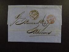 Letter Netherlands Nederland Rotterdam Pays Bas Val Reims Paris Strasbourg 1865