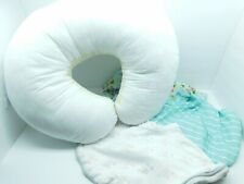 Boppy Pillow Infant Baby Support Nursing Breast Feeding Pillow & 3 Covers