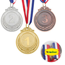 3PCS Metal Award Medals Gold Silver Bronze Prize Tool for Sports Competition