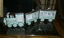 Bambino Train picture frames, mint green epoxy. + bonus train wall decoration