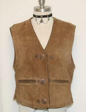 BROWN German LEATHER Women WINTER Hunting Western Riding Sport Coat VEST 42 12 M