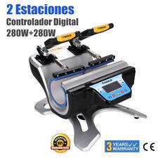 2en1 280W LCD Prensa Témica Transferencia de Calor Doble Presión 180℃ para Taza