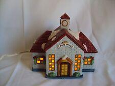 "VINTAGE COLLECTIBLE PORCELAIN AMERICANA CHRISTMAS ORNAMENT ""COURT HOUSE"""