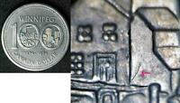Canadian DOUBLE YOKE ERROR  Coin NICKEL 1974 DOLLAR  WINNIPEG Coin
