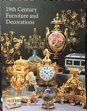 SOTHEBY'S Auction Catalog 11/5/1997 19th century Furniture and Decorations - NY