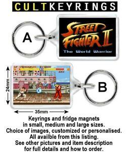 Street Fighter keyring / fridge magnet - Ken, Ryu, Blanka, Guile