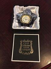 Lovely Cio Collectin Czech Glass Clock In Original Box