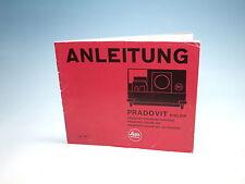 Leitz Pradovit Color Bedienungsanleitung instruction manual - (100900)