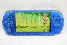 PSP Console Vibrant Blue PSP-3000 Sony Playstation Portable Tetsed Japan 2601