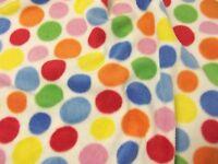 QUALITY Printed Anti Pil Polar Fleece Fabric Material - SPOT