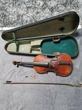 Sehr alte Geige, Violine, Bratsche, 4/4, inkl. Koffer und Bogen