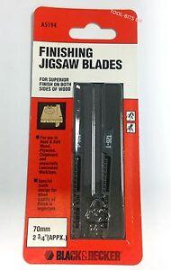 2 x BLACK & DECKER HCS 70MM JIGSAW BLADES FOR KITCHEN WORKTOPS, LAMINATES, WOOD