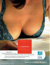 PUBLICITE ADVERTISING 125  1998  Recherche sur le Cancer du Sein