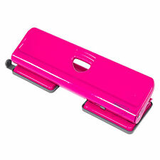 Rapesco Hot Pink 4 Hole Punch A4 A5 A6 Paper Puncher Office Desk Accessory