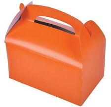 12 ORANGE PARTY TREAT BOXES FAVORS GOODY BAG BAZAAR PRIZE GIFT BASKET CARNIVAL