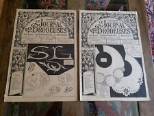 2 ANCIENS JOURNAUX LE JOURNAL DES BRODEUSES 1953 VINTAGE EMBROIDERY PATTERNS