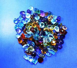 500 Carat A++ MIX Topaz Certified Mix Shapes & Colors Loose Gemstones LOT's