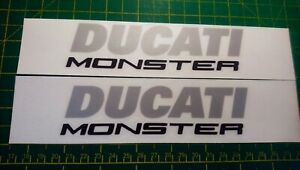 Ducati Monster 821 1200 1200S Petrol tank decal sticker set.cast vinyl 10/12yr