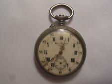 Ancienne montre a gousset chrono J.Dusquene Nancy argentan