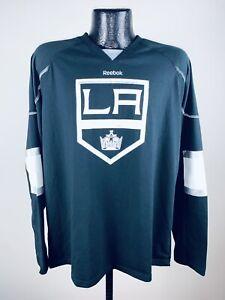 Men's Majestic Los Angeles Kings Reebok Black Edge Jersey Long Sleeve Shirt S