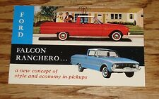 Original 1960 Ford Falcon & Ranchero Postcard 60