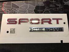 New Genuine Range Rover HSE SDV6 RED Badge boot emblem badge 3d tailgate