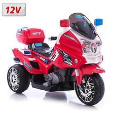 MOTO ELETTRICA 12V SUPER POLICE PER BAMBINI CON SUONI E LUCI A LED ROSSO 815