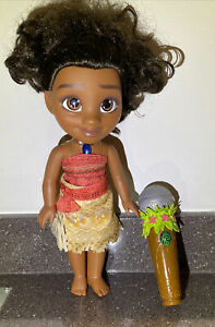 Moana Singing And Talking Doll With Light Up Necklace And Microphone - VERY RARE