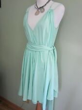 GUESS BY MARCIANO Green WRAP DRESS SIZE M
