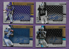 Lot of 3 2012 Topps Strata Clear Cut Gold Auto Relic Rookie Football w/Bonus