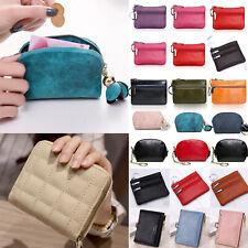 Women Ladies Short Mini Purse PU Leather Wallet Coin Card Holder Clutch Handbags