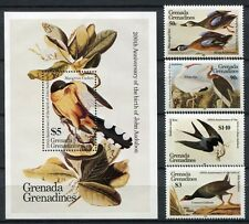 Grenada Grenadinen 1985 Vögel Birds Audubon 647-50 + Block 90 MNH