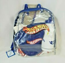 Vintage Rare Hot Wheels 2001 New NWT Bookbag with Shirt, Hat and Water Bottle