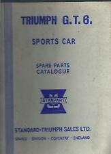 Triumph GT6 Sports Car Spare Parts Catalogue Standard Triumph Sales 2nd edition