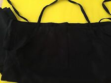 Unisex Black Apron with Deep Three Pocket for Kitchen, Restaurant and Bar (3pcs)