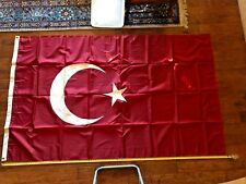1984 Olympics large 8-foot Turkish Official ceremonial flag