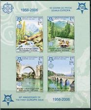Bosnia y Herzegovina Rep. Krajina Serbia 2006 Hoja de sello de Europa