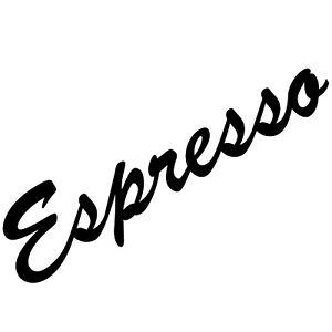 Espresso 30cm Schriftzug Aufkleber Tattoo Wandtattoo Dekofolie PVC Klebefolie