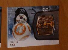 Topps STAR WARS Force Awakens Serie 2 Card MEDALLION 15 BB-8 /350 Carte Rare