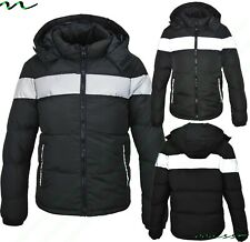 NEW BOYS COATS KIDS BACK TO SCHOOL REFLECTIVE PARKA JACKET WINTER WARM COAT SIZE