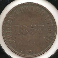 1857, Coinage, VERY FINE Prince Edward Island Trade Token  #1