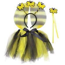 Girls Bumble Bee Tutu Wings Headband & Wand Set Instant Fancy Dress Costume Kit