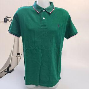 U.S. Polo Assn. Poloshirt T-Shirt Grün Herren Gr. L