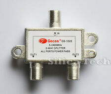 Gecen 2 way splitter 1 in 2 out for satellite receiver GS-1022