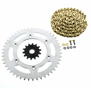 1999 2000 2001 2002 KTM 250 SX CZ ORHG Gold X Ring Chain and Sprocket 14/48 120L